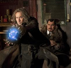 Movie magic: Nicolas Cage, left, is sorcerer Balthazar Blake and Alfred Molina his arch-nemesis, Maxim Horvath, in The Sorcerer's Apprentice, out Wednesday.