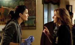Angie Harmon, left, and Sasha Alexander star as a cop and a medical examiner on the TNT show, based on Tess Gerritsen's crime series.