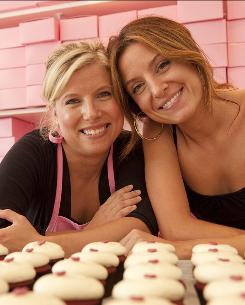"""Just the two of us"": Sisters Sophie LaMontagne, left, and Katherine Kallinis of Georgetown Cupcake started small. Now they have a hot commodity and a bustling business."