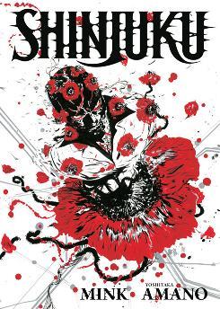 Cover image to 'Shinjuku' by Yoshitaka Amano & Mink from Dark Horse Comics