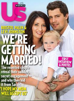 Bristol Palin, daughter of Sarah Palin, and fiance Levi Johnston with their son, Tripp.