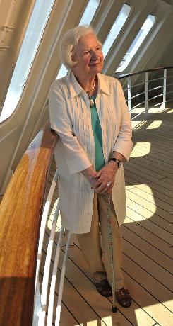 Seafarer: P.D. James, the queen of British detective fiction, sailed from England to New York last week.