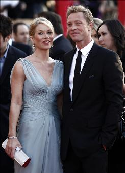 Christina Applegate and Martyn Lenoble were engaged on Valentine's Day.