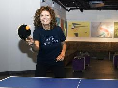 Susan Sarandon is co-owner of Spin New York, a sports club/nightclub featuring ping-pong. A second location opens soon in Los Angeles' Mondrian Hotel.