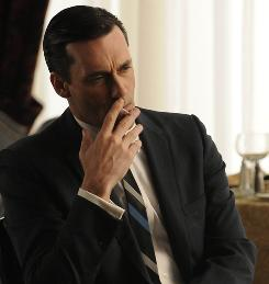 Do you know this man?: Don Draper (Jon Hamm) finds himself in a transitory phase of life in the fourth-season premiere of Mad Men.