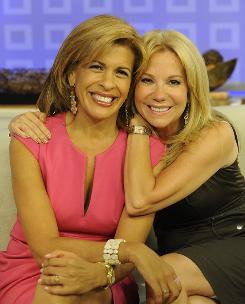 The odd couple of morning talk: Newswoman Hoda Kotb, left, and former Regis Philbin sidekick Kathie Lee Gifford, co-hosts of Today's fourth hour, profess great affection for each other .