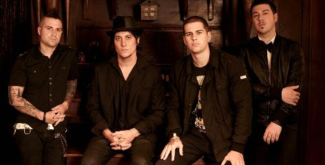 Avenged Sevenfold are bassist Johnny Christ, left, lead guitarist Synyster Gates, lead singer M. Shadows and rhythm guitarist Zacky Vengeance.