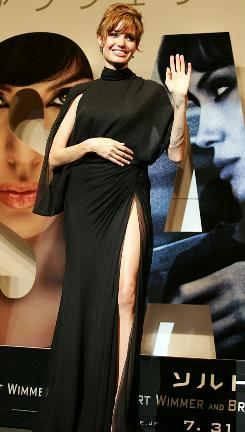Angelina Jolie attends the Salt premiere in Tokyo on Tuesday.