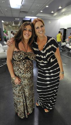 Christy Pereira is the receptionist, and mom Gayle Giacomo is the owner, at the Gatsby Salon in Green Brook, N.J. The salon is the set for Style Network's Jerseylicious.