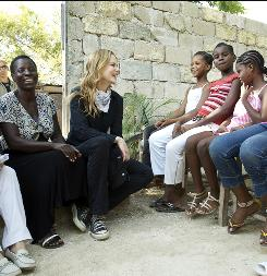 "Goodwill ambassador: Nicole Kidman meets with women's rights activists and earthquake survivors in Haiti as part of her UNIFEM duties. Daughter Sunday couldn't join her, but Kidman says the trip set a good example. ""For her to be able to be molded to have a very strong social conscience  I would be so proud."""
