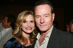Kyra Sedgwick and Bryan Cranston at an Emmy reception Wednesday night in Los Angeles.