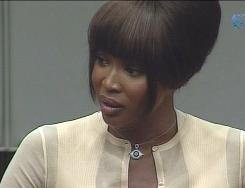 Naomi Campbell testifies in the war crimes tribunal of former Liberian leader Charles Taylor on Thursday. He is accused of trading weapons for blood diamonds during his country's civil war. Campbell was subpoenad after actress Mia Farrow claimed that Taylor gave the British model an uncut diamond during her visit to South Africa  in 1997.