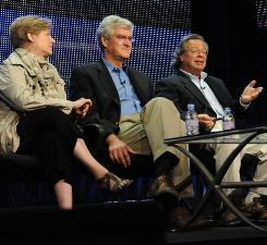God in America producer Marilyn Mellowes; Frank Lambert, author and Purdue University professor of American history; and Stephen Marini, Wellesley College professor of American religion/ethics discuss the six-hour series as part of the Summer TV Critics Press Tour.
