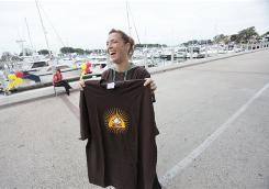 Michele Neff Hernandez participates in the Widow Dash 5K during Camp Widow weekend in San Diego.