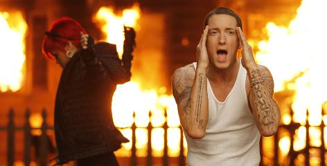 Eminem requested Rihanna for the collaboration on Love the Way You Lie, which is No. 1 for a third straight week.