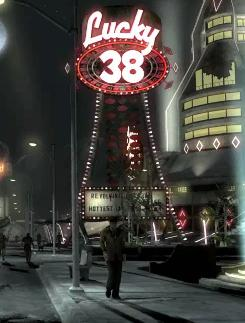 Wayne's world: Newton adds to the  narrative in the post-apocalyptic game set in Las Vegas.