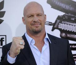 Steve Austin's action resume is going A-list as he stars with Sylvester Stallone in The Expendables, opening Friday.