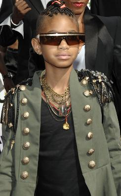 Willow Smith has military style.
