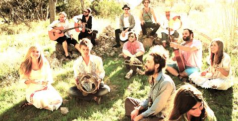 Big band: Edward Sharpe and the Magnetic Zeros' debut album, Up From Below, is climbing the charts, with 122,000 copies sold. The band members started playing shows together in the Los Angeles area about two years ago.