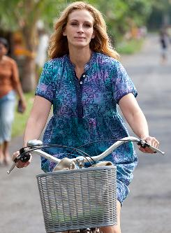 A motivational poster in motion: Julia Roberts stars as Elizabeth Gilbert, the author of the popular book Eat Pray Love.