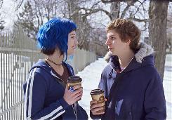 Ramona (Mary Elizabeth Winstead) lets suitor Scott Pilgrim (Michael Cera) know he must do battle for her love.