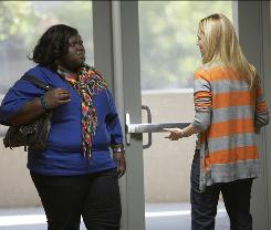 Cathy's (Laura Linney) lecture to student Andrea (Gabourey Sidibe) about the link between being jolly and being fat redeems The Big C's shaky pilot episode.