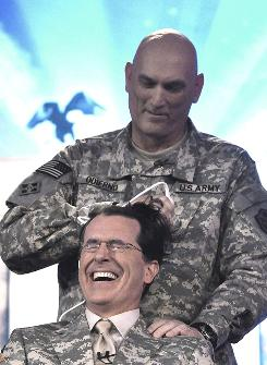 "Gen. Ray Odierno, who shaved Stephen Colbert's head when the talk-show host broadcast from Baghdad in 2009, will return for the show's end-of-combat-operations special, ""Been There: Won That: The Returnification of the American-Do Troopscape."""