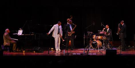 Family plays together: Ellis, left, Wynton (trumpet), Branford (sax), Jason (drums) and Delfeayo (trombone) perform a tribute to Ellis last June in Washington, D.C.