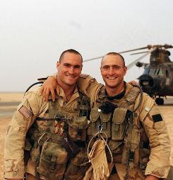 Tragedy, mystery: Pat Tillman, left, and his brother Kevin enlisted in the Army after 9/11. Pat died in combat in Afghanistan in 2004.