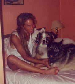 Must love dogs: Book critic Gail Caldwell bonded with Caroline Knapp, above, over a shared love of dogs.