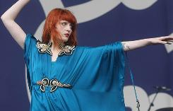 Florence and the Machine waves her magic wand during a performance at Ireland's Oxegen Music festival in July.