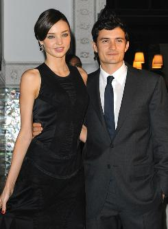 Orlando Bloom, seen here with wife Miranda Kerr last year, was one of the bold-faced names who testified against the members of a Hollywood burglary ring last month.