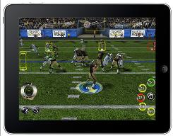 EA Sports' Madden NFL 11 for the Apple iPad.