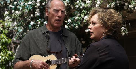 Strumming up some trouble: Camille Braverman (Bonnie Bedelia) gets family patriarch Zeek (Craig T. Nelson) to start counseling on Parenthood.
