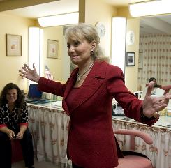 View star Barbara Walters is excited to be back after being off several months for heart surgery.