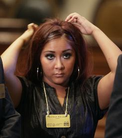 There's a Snooki on the docket today: The Jersey Shore cast member will answer to disorderly conduct charges of being a public nuisance.