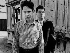 In the late 1980s and early 90s, They Might be Giants (John Linnell, left, and John Flansburgh) were darlings of the alternative rock set. Now they're playing music for that group's kids.