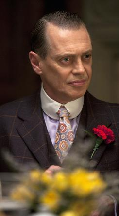 Boardwalk Empire: Steve Buscemi as Nucky Thompson, criminal emperor.
