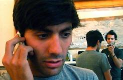 The other Facebook movie: Nev Schulman, left, is filmed by his brother, Ariel Schulman, in Catfish.