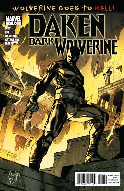 Cover to 'Daken Dark Wolverine' issue #1 from Marvel Comics