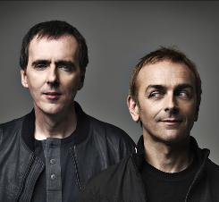 Underworld (Rick Smith, left, and Karl Hyde) have a new album, Barking, out this week.
