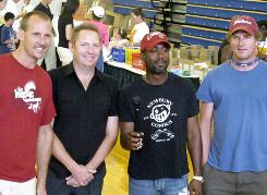Hootie & The Blowfish got their start playing parties for students at the University of South Carolina. From left: Soni Sonefeld, Dean Felber, Darius Rucker and Mark Bryan.