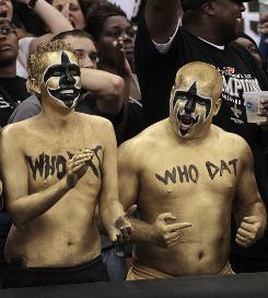 NFL in New Orleans: Saints fans watch their team take on Minnesota.