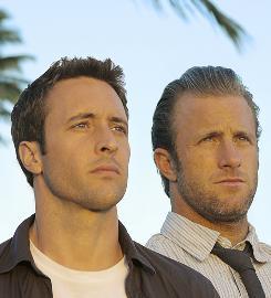 """Book 'em: Alex O'Loughlin, left, plays Detective Steve McGarrett, and Scott Caan is Detective Danny """"Danno"""" Williams."""
