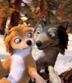 Wolf, wolf: Kate (voiced by Hayden Panettiere) and Humphrey (voiced by Justin Long).