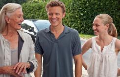 Vanessa Redgrave, left, Chris Egan and Amanda Seyfried star in Letters to Juliet.