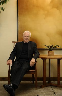 Anthony Hopkins has been at the Toronto Film Festival to promote Woody Allen's latest, ;You Will Meet a Tall, Dark, Stranger..
