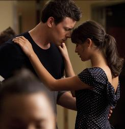 Are they or aren't they? On-again, off-again couple Finn (Cory Monteith) and Rachel (Lea Michele) in the premiere.