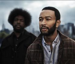 The Roots drummer ?uestlove, left, and John Legend team up on a set of songs about war and financial struggles.