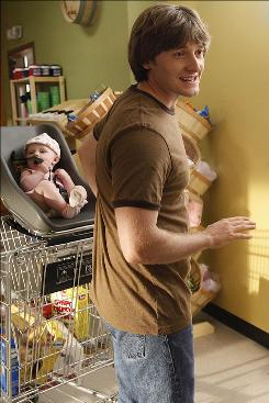 Shopping for a girlfriend? New father Jimmy (Lucas Neff) is looking for love at the grocery store, where his crush, Sabrina, works as a clerk.